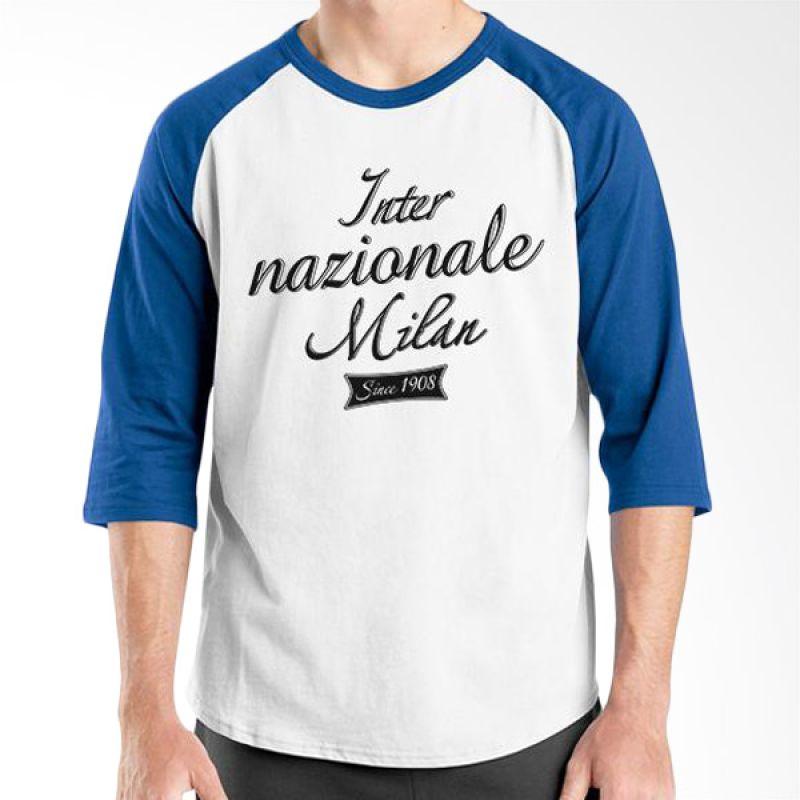Ordinal Inter Milan Edition 03 Raglan Biru Putih T-Shirt Pria