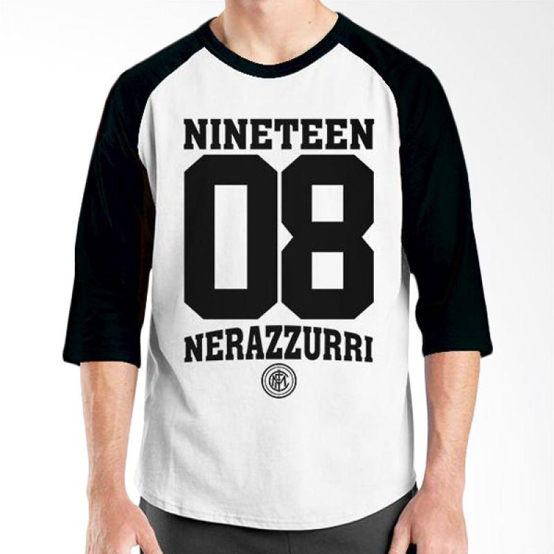 Ordinal Inter Milan Edition 04 Raglan Hitam Putih T-Shirt Pria