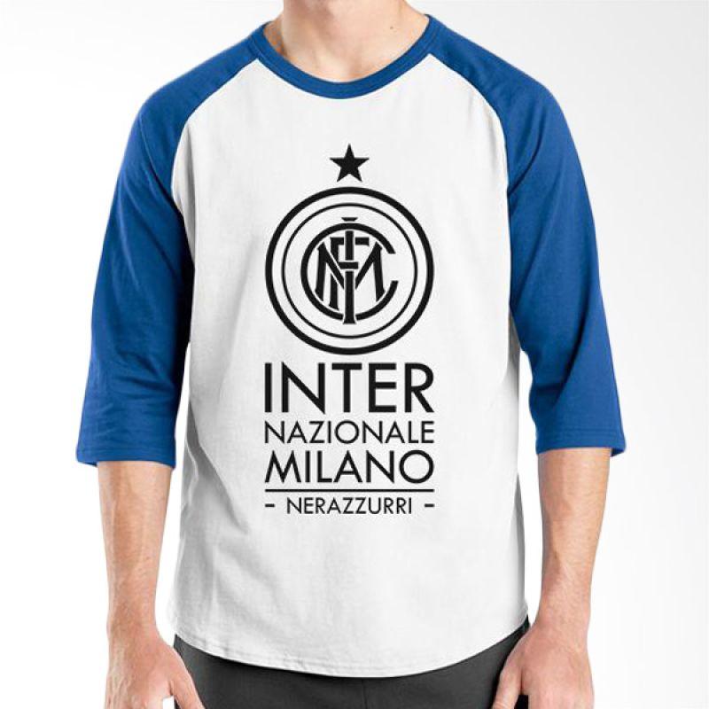 Ordinal Inter Milan Edition 05 Raglan Biru Putih T-Shirt Pria
