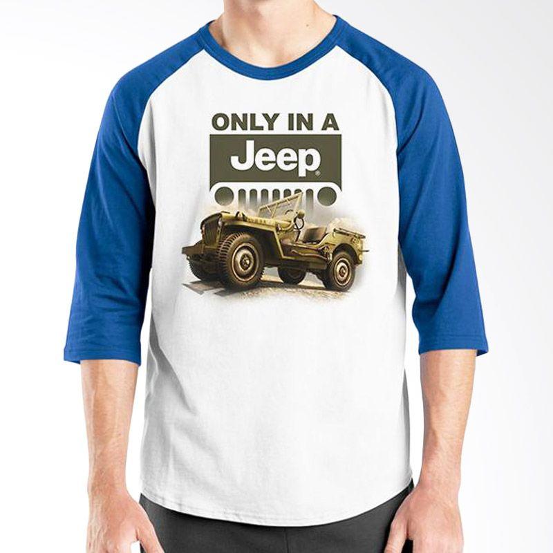 Ordinal Raglan Jeep Series Edition 05 Biru Putih T-Shirt Pria