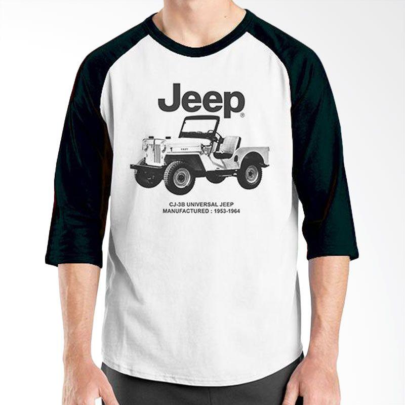 Ordinal Raglan Jeep Series Edition 06 Hitam Putih T-Shirt Pria