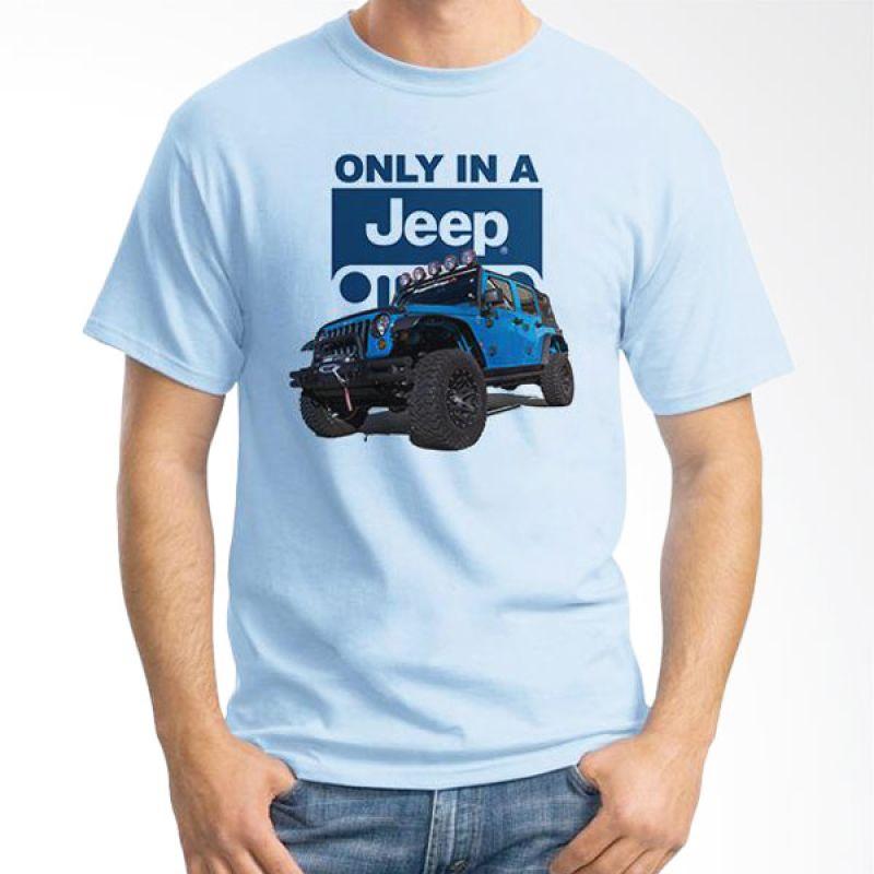 Ordinal Jeep Series Edition 07 Biru Muda T-Shirt Pria