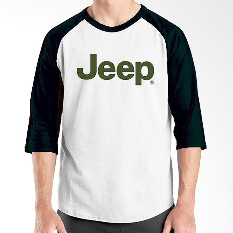 Ordinal Raglan Jeep Series Edition 09 Hitam Putih T-Shirt Pria