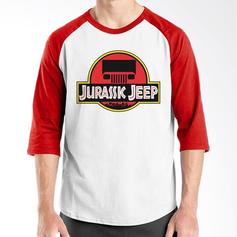 Ordinal Raglan Jeep Series Edition 10 Merah Putih T-Shirt Pria