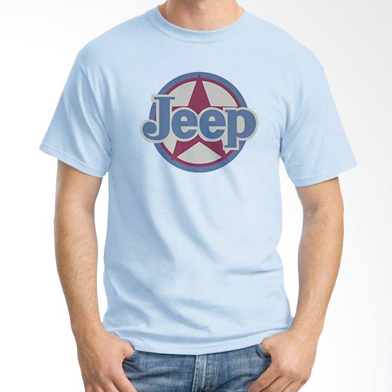 Ordinal Jeep Series Edition 11 Biru Muda Kaos Pria