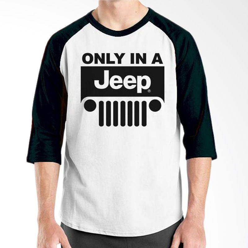 Ordinal Raglan Jeep Series Edition 12 Hitam Putih T-Shirt Pria