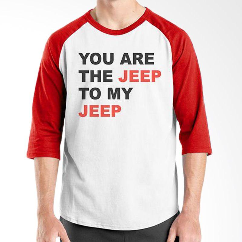 Ordinal Raglan Jeep Series Edition 13 Merah Putih T-Shirt Pria