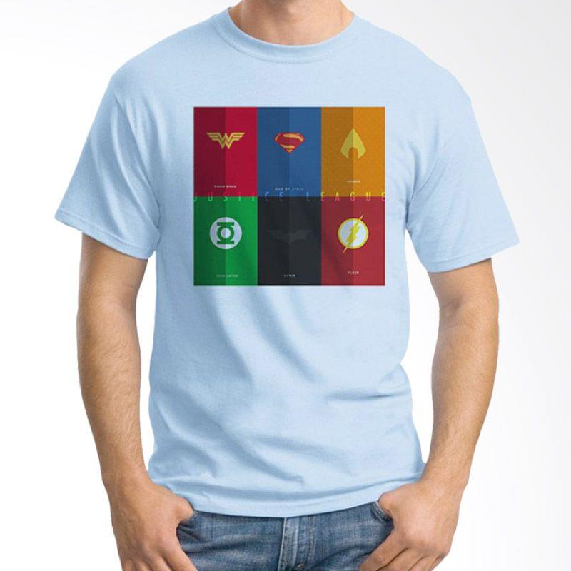 Ordinal Justice League Edition 07 Biru Muda Kaos Pria