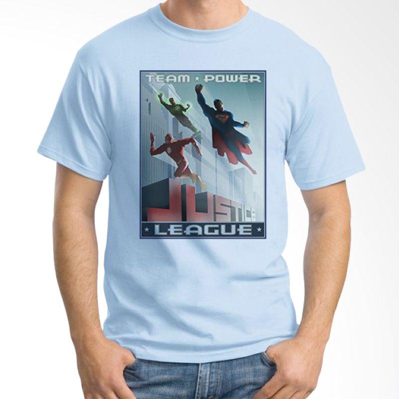 Ordinal Justice League Edition 08 Biru Muda Kaos Pria