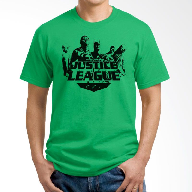 Ordinal Justice League Edition 14 Hijau Kaos Pria
