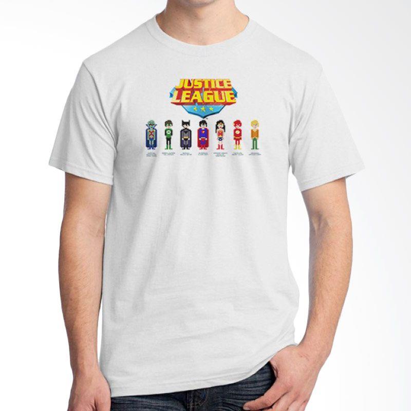 Ordinal Justice League Edition 15 Putih Kaos Pria
