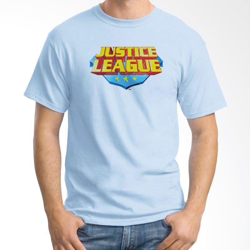 Ordinal Justice League Edition 16 Biru Muda Kaos Pria
