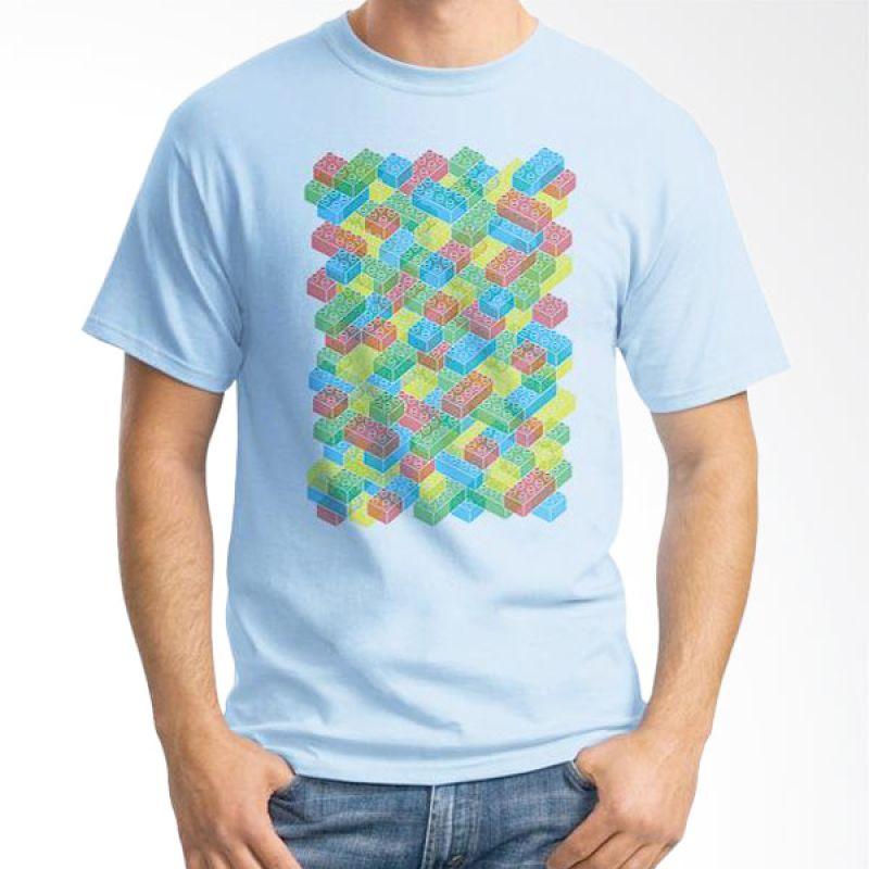 Ordinal Lego Edition 04 Biru Muda Kaos Pria