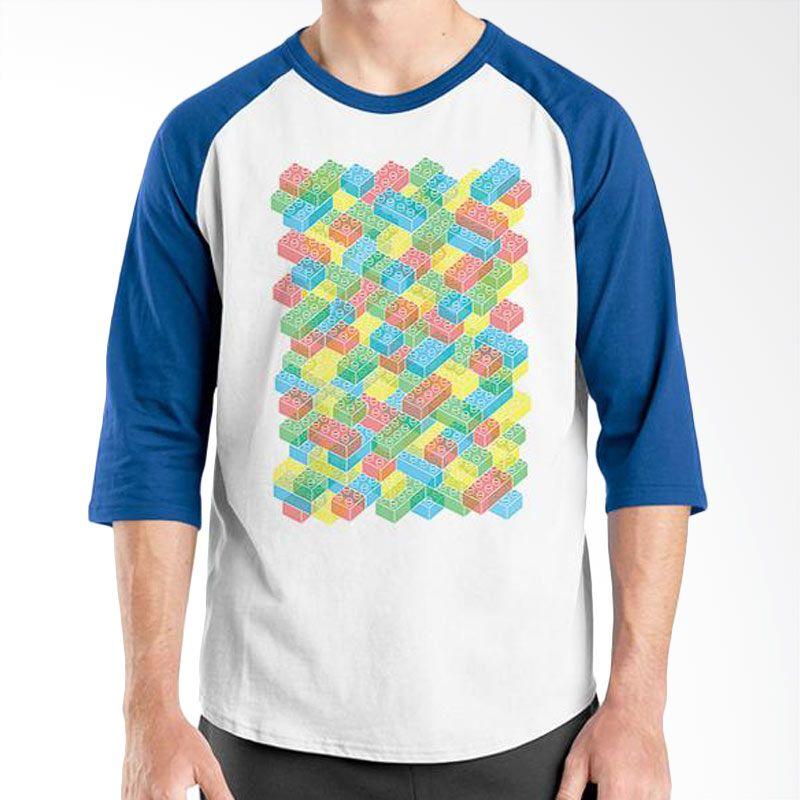 Ordinal Lego Edition 04 Raglan Biru Putih Kaos Pria