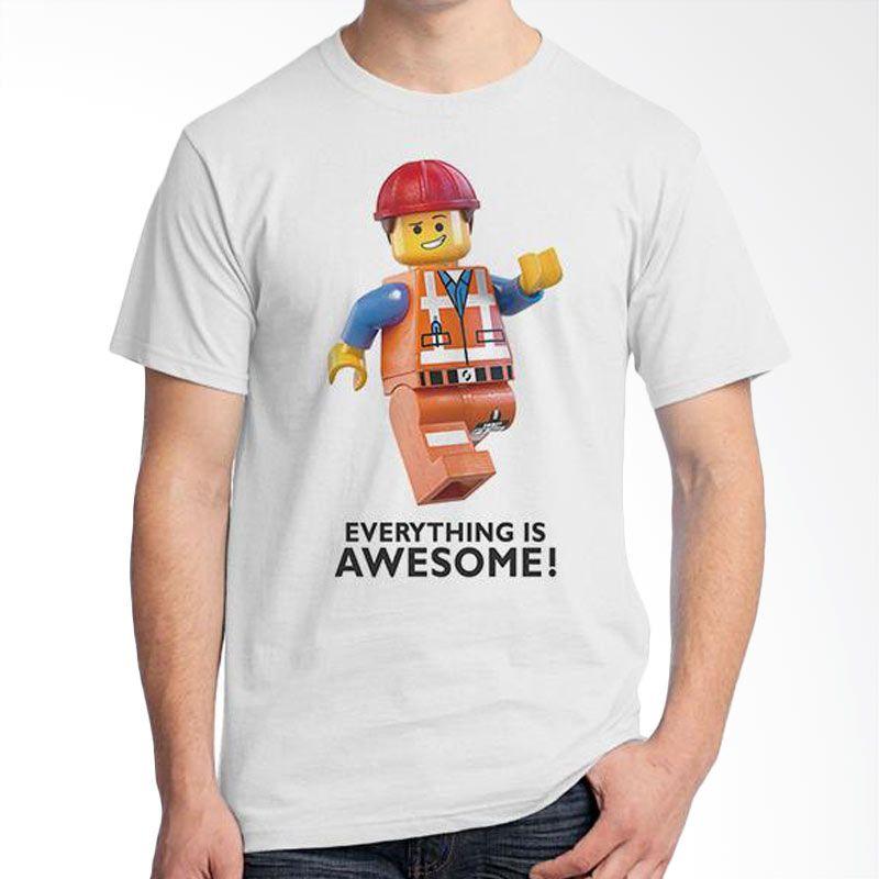 Ordinal Lego Edition 05 Putih Kaos Pria