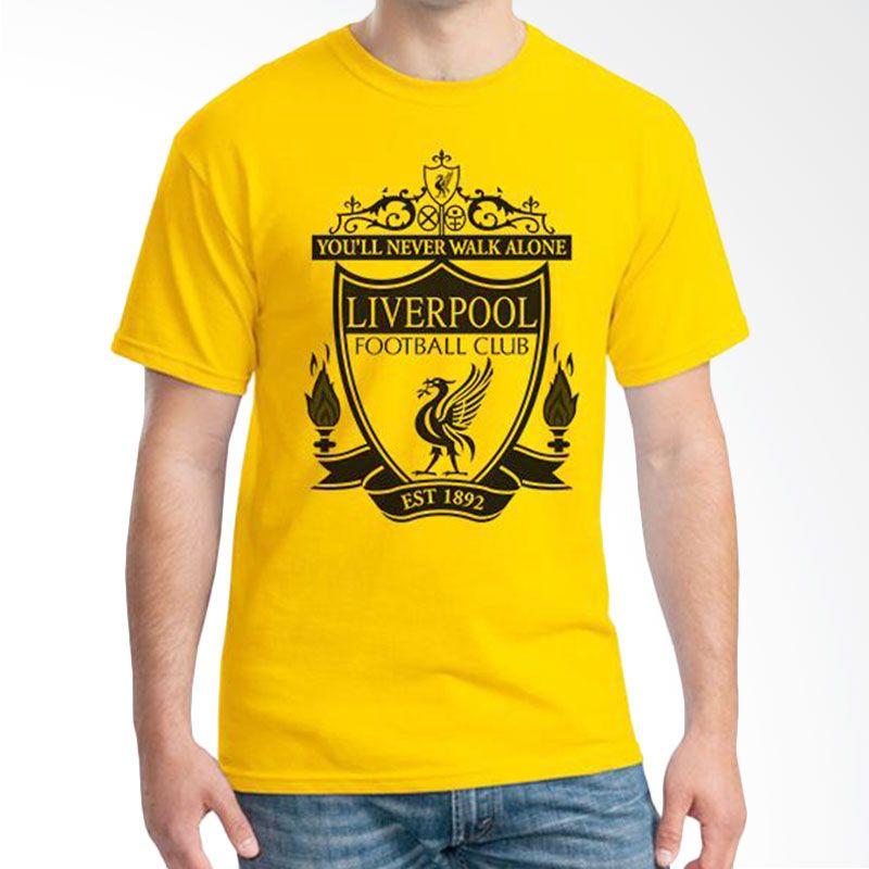 Ordinal Liverpool 02 Kuning Kaos Pria