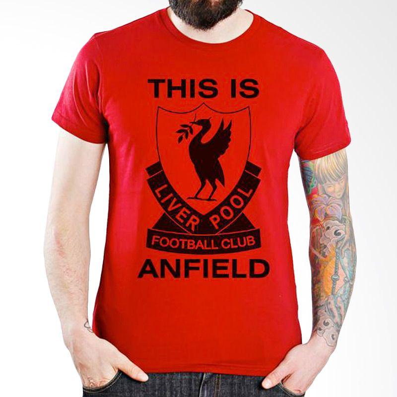 Ordinal Liverpool 05 Merah Kaos Pria
