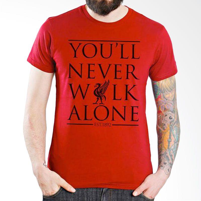 Ordinal Liverpool 06 Merah Kaos Pria
