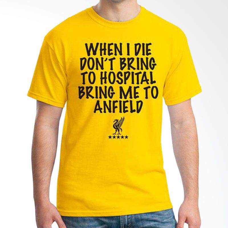 Ordinal Liverpool 07 Kuning Kaos Pria