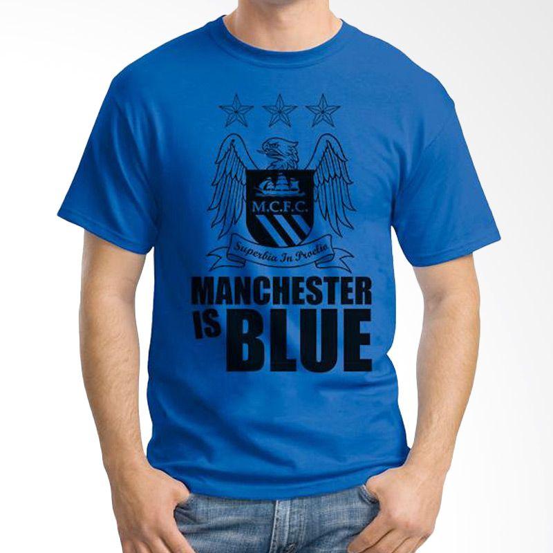 Ordinal Manchester City 01 Biru Tua Kaos Pria