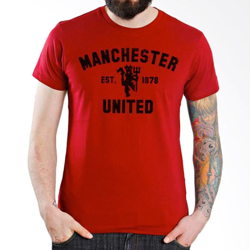 Ordinal Manchester United Edition 01 Merah Kaos Pria