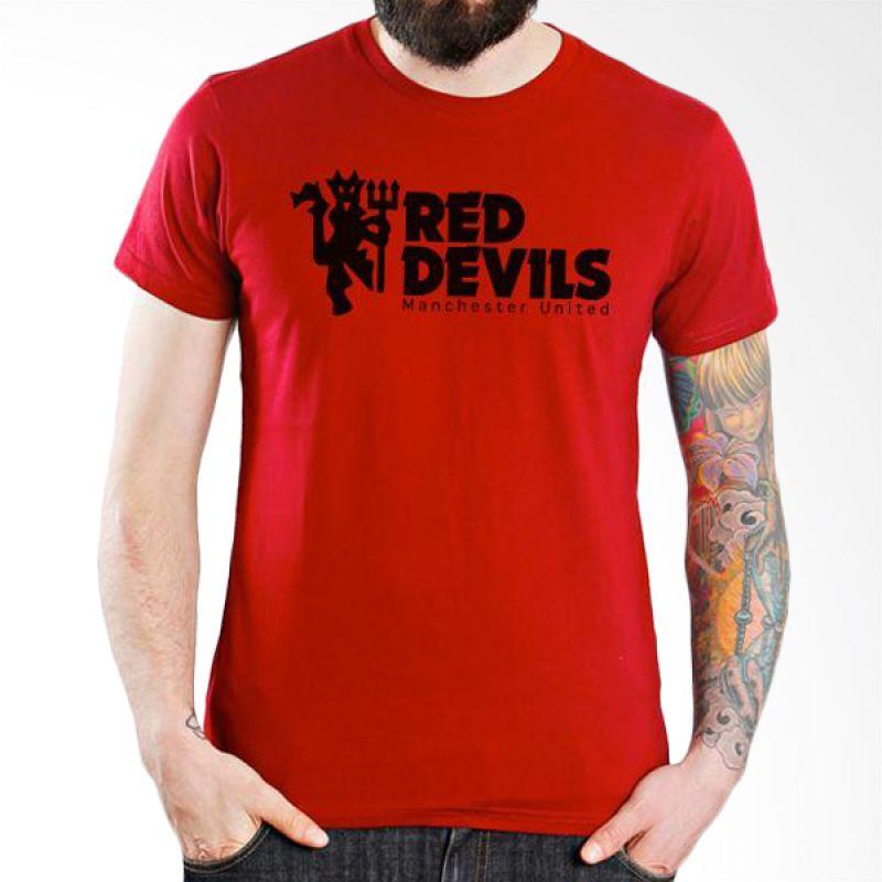 Ordinal Manchester United Edition 04 Merah Kaos Pria