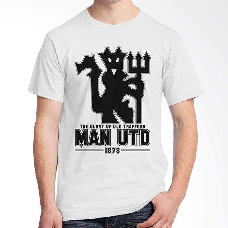 Ordinal Manchester United Edition 08 Putih Kaos Pria
