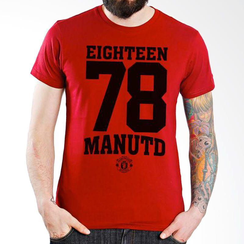 Ordinal Manchester United Edition 12 Merah Kaos Pria