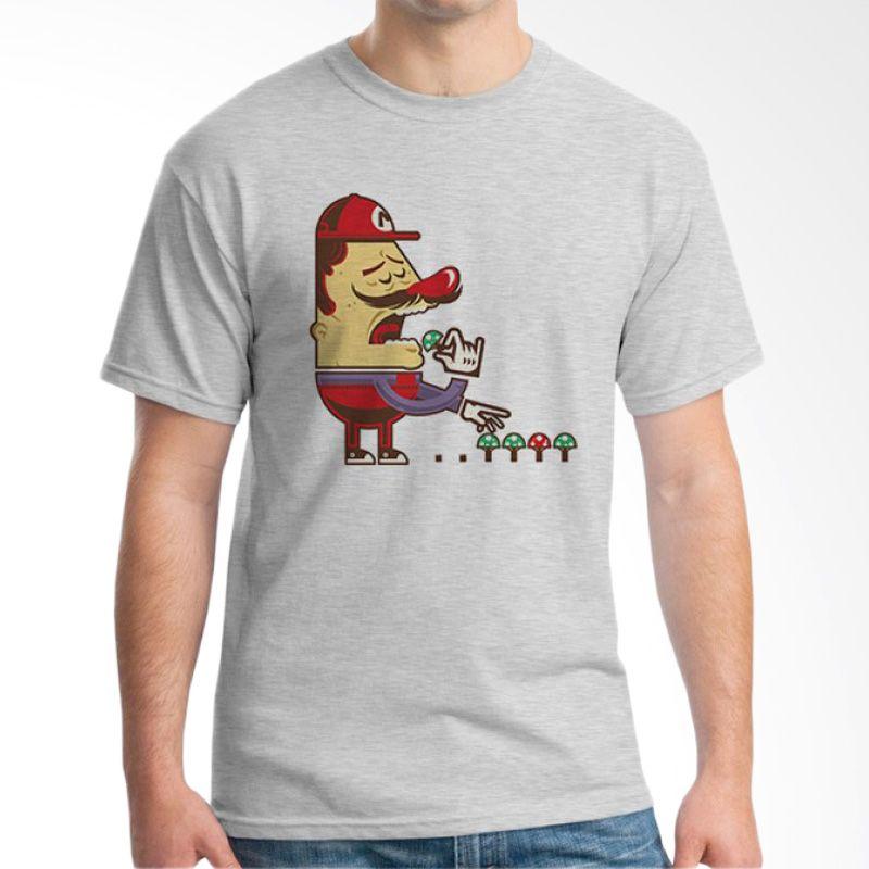Ordinal Mario Artworks 01 Grey T-Shirt Pria