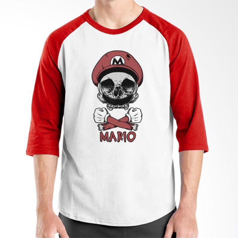 Ordinal Mario Artworks 03 Raglan Putih Merah Kaos Pria