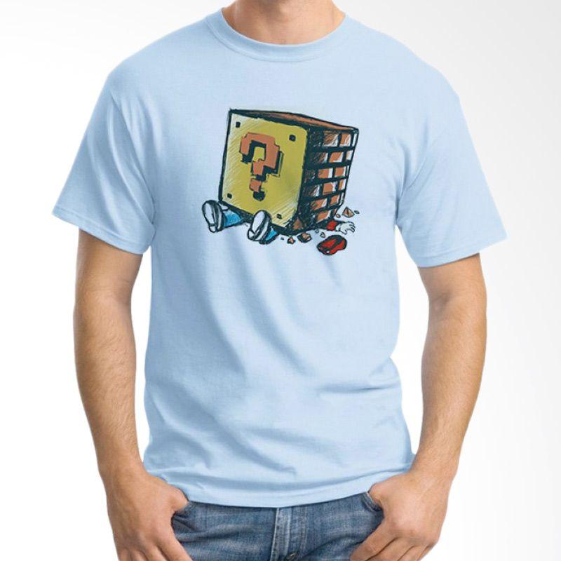 Ordinal Mario Artworks 08 Biru Muda T-Shirt Pria