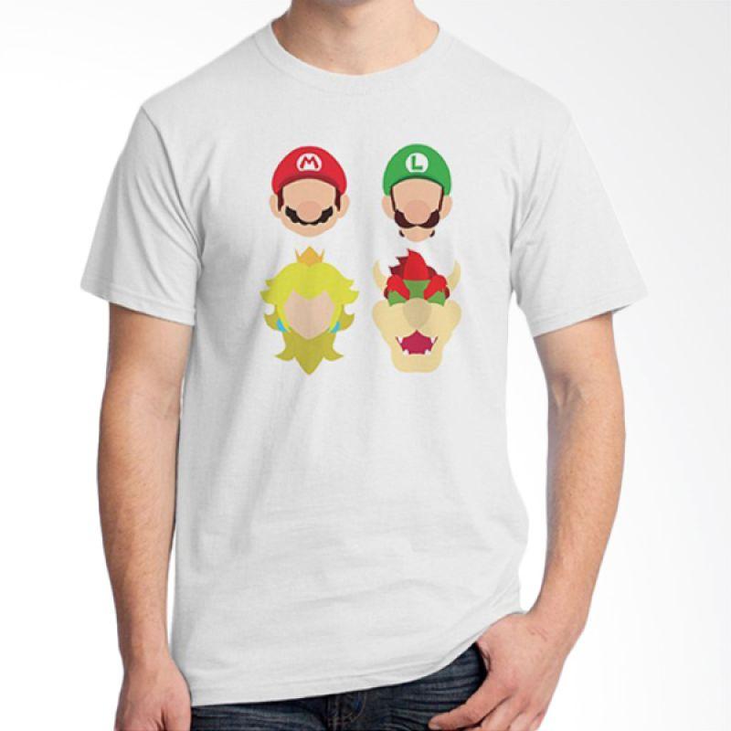 Ordinal Mario Artworks 11 Putih Kaos Pria