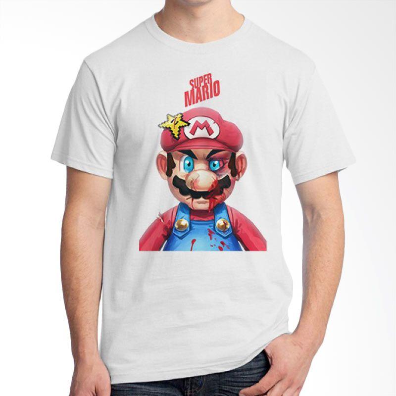 Ordinal Mario Artworks 16 Putih Kaos Pria