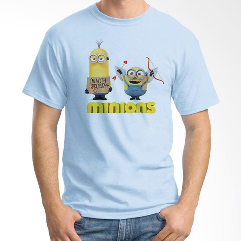 Ordinal Minions 06 Biru Muda T-Shirt Pria