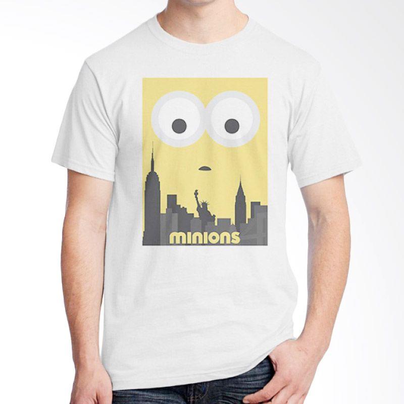 Ordinal Minions 12 Putih Kaos Pria