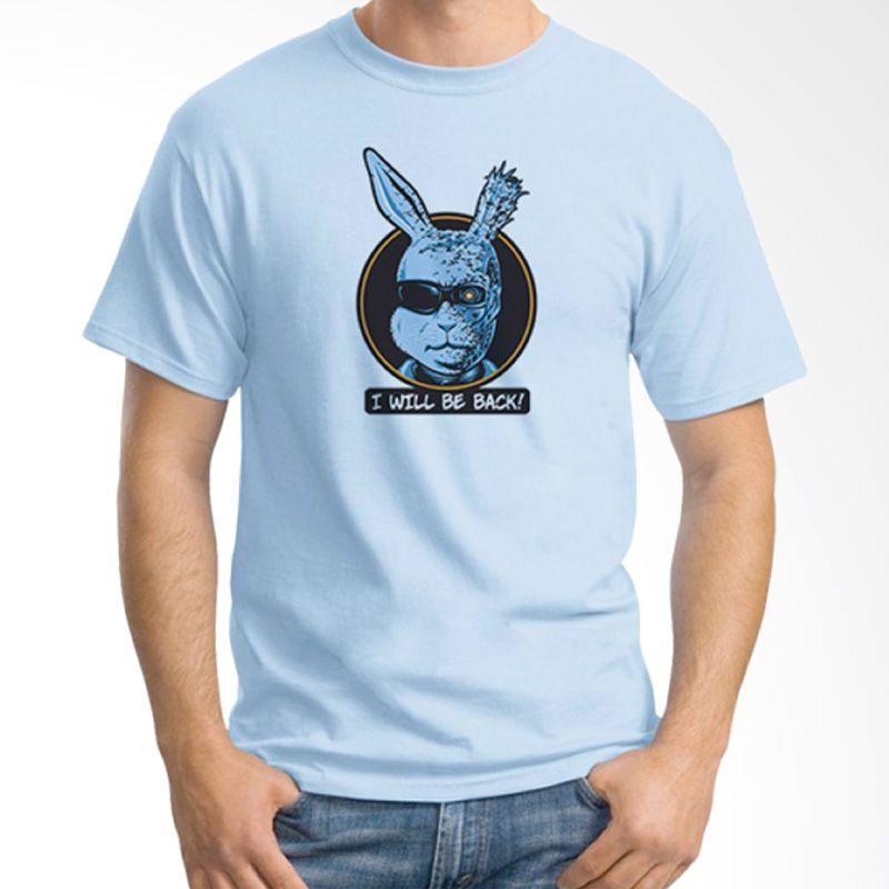 Ordinal Movie Logo Parody 02 Biru Muda Kaos Pria
