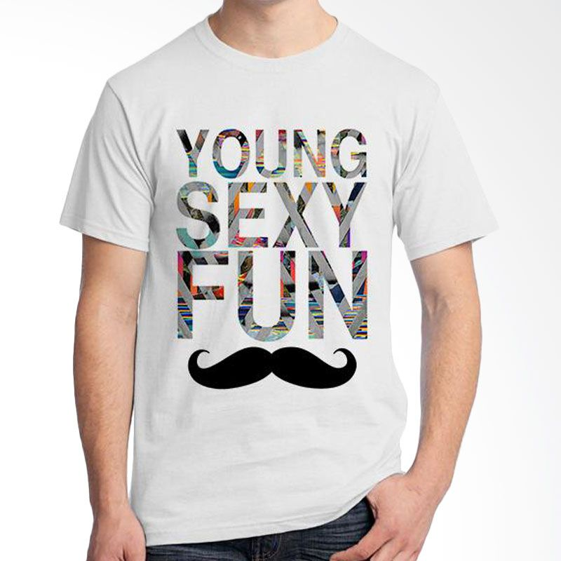 Ordinal Mustache Series 03 Putih Kaos Pria