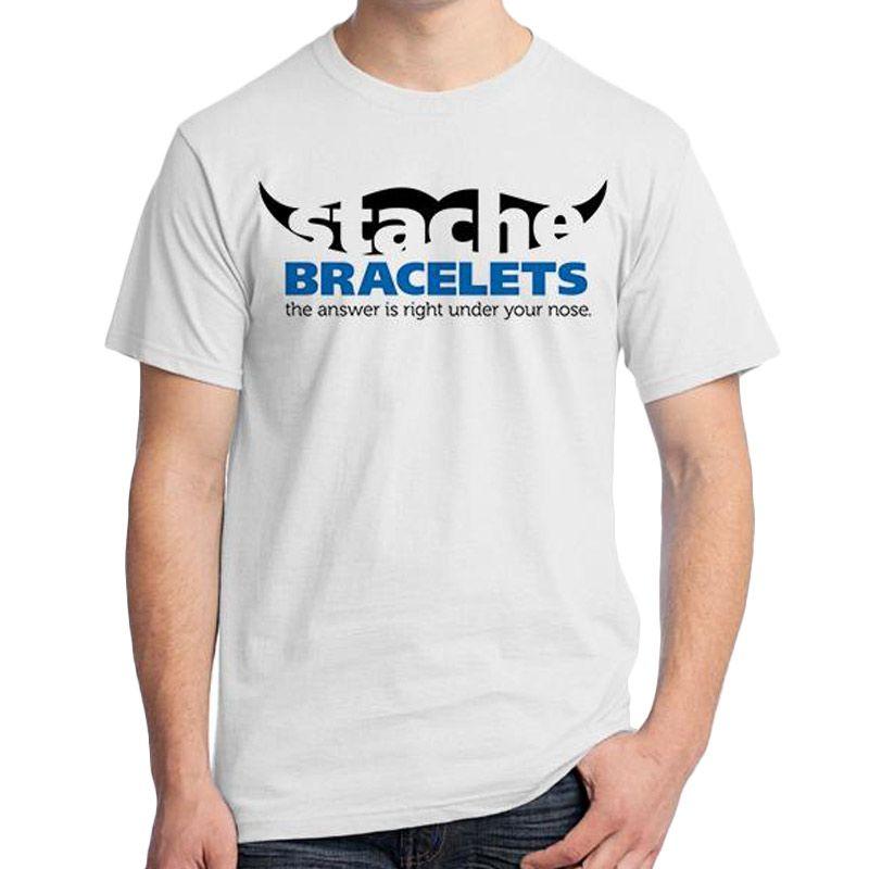 Ordinal Mustache Series 10 Putih T-Shirt Pria
