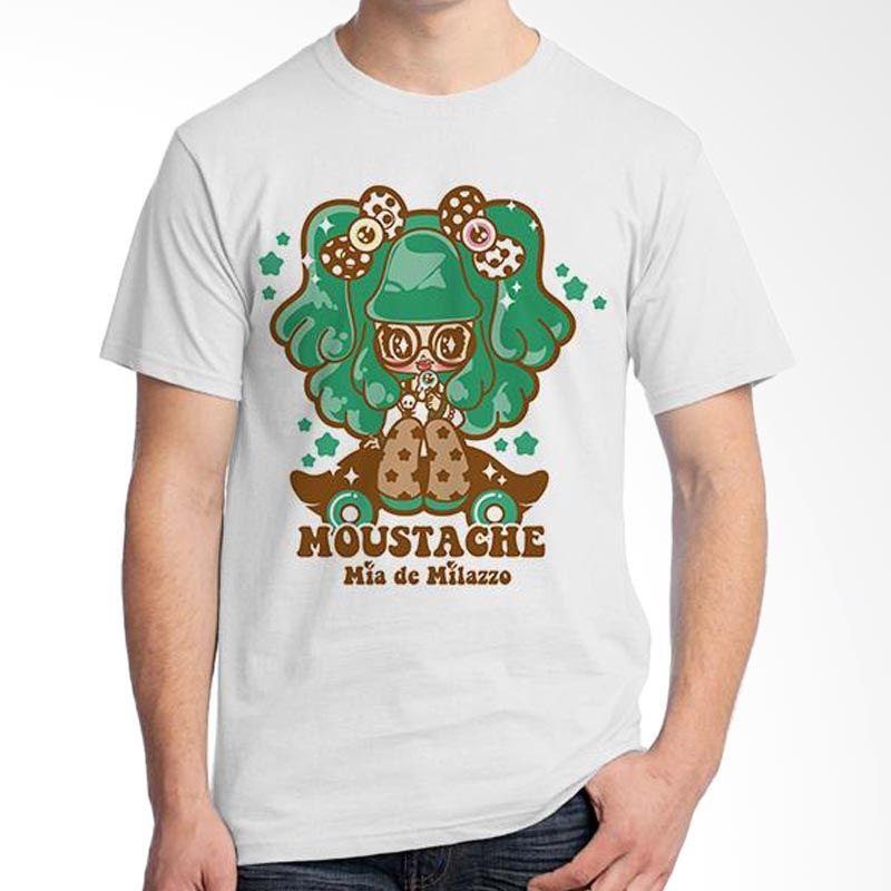 Ordinal Mustache Series 16 Putih T-Shirt Pria