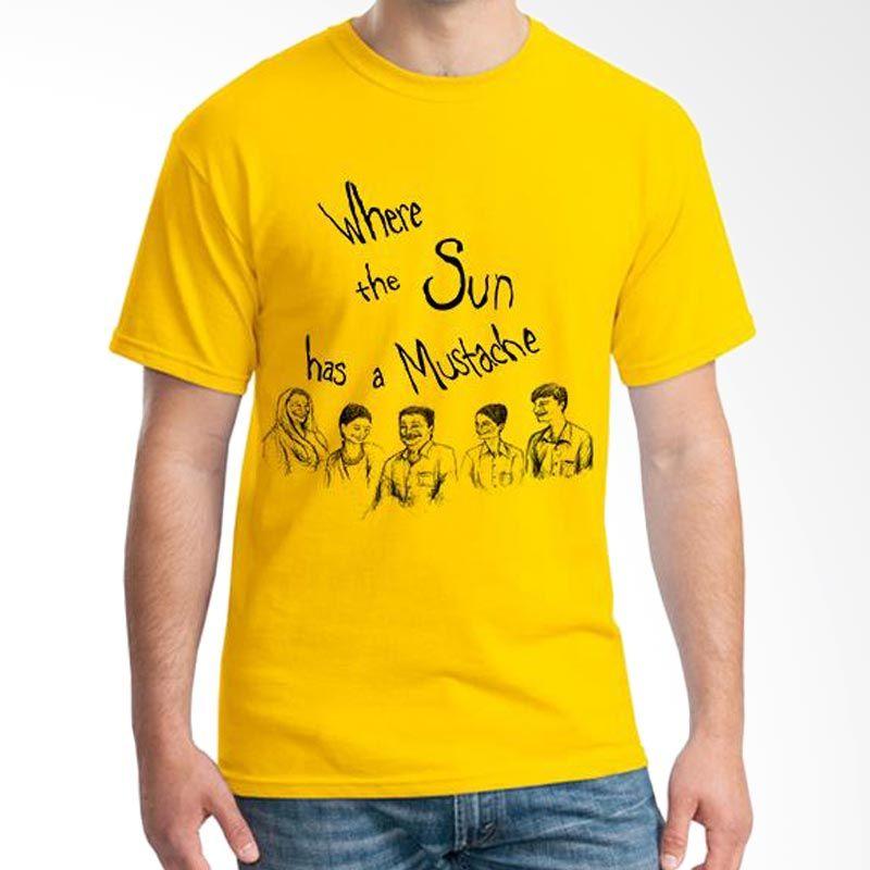 Ordinal Mustache Series 17 KuningT-Shirt Pria