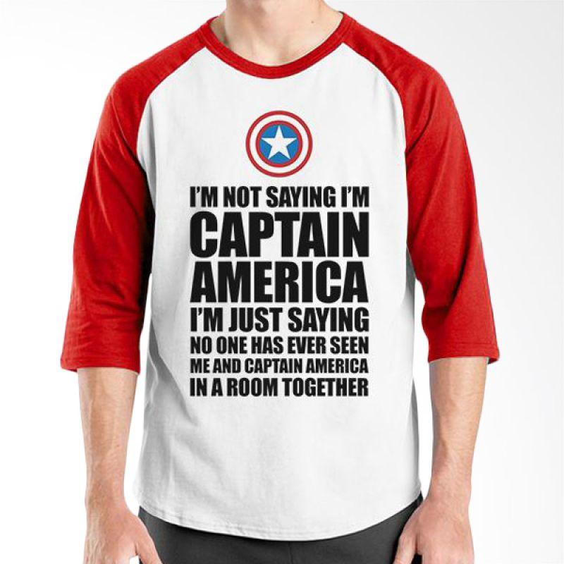 Ordinal New Captain America 04 Raglan Putih Merah T-Shirt Pria
