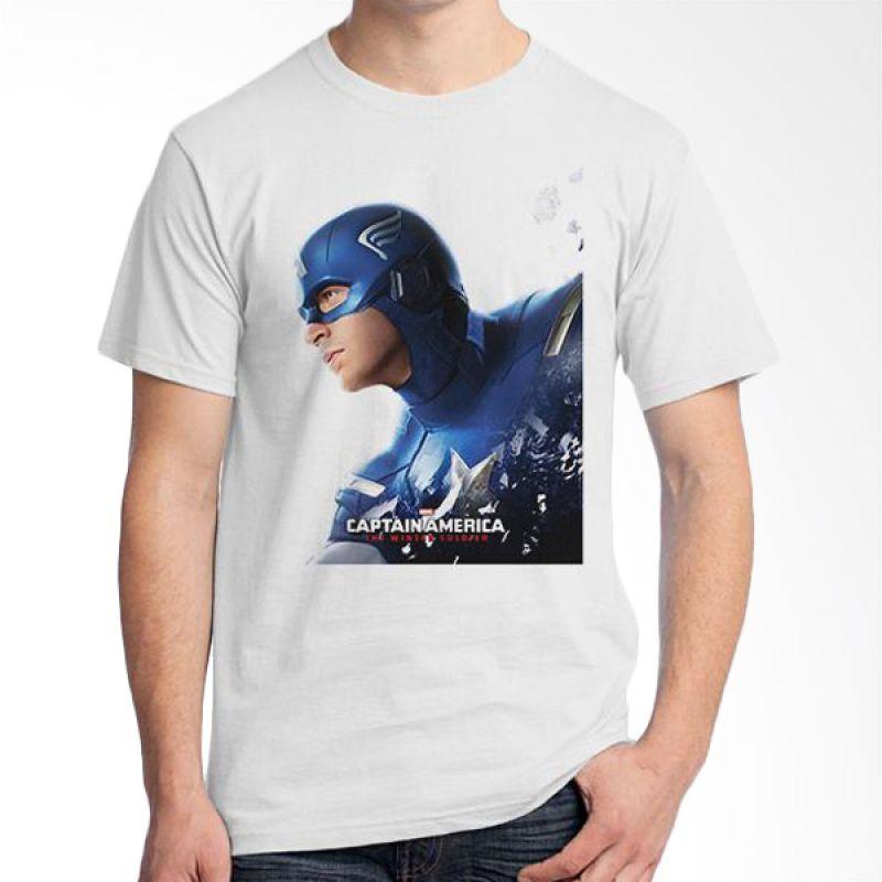 Ordinal New Captain America 05 Putih T-Shirt Pria