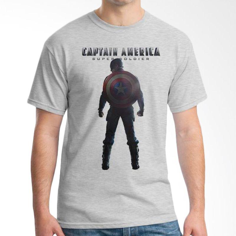 Ordinal New Captain America 10 Abu-abu T-Shirt Pria