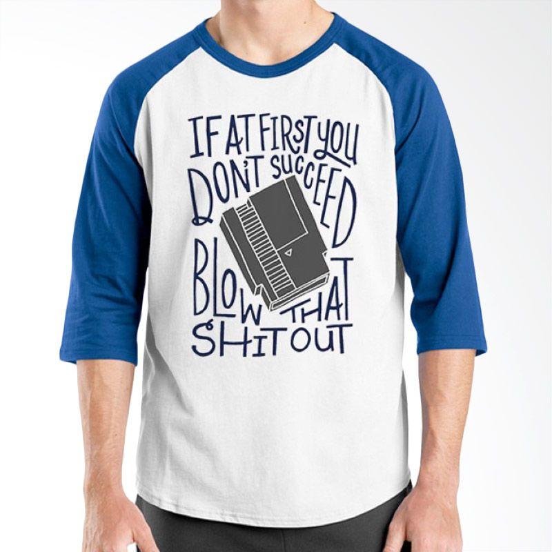 Ordinal Old School 19 Raglan Biru Putih T-Shirt Pria