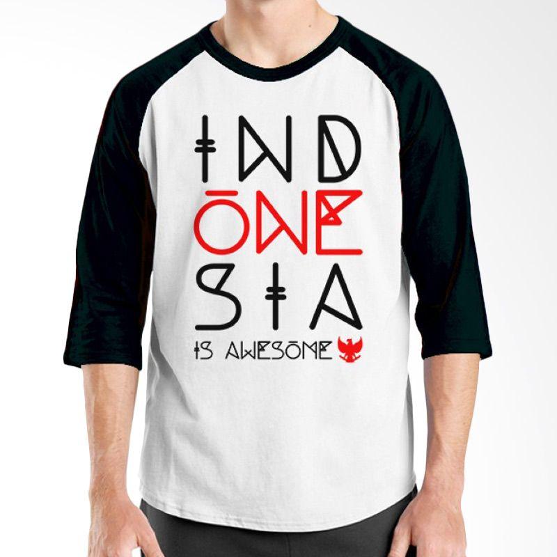 Ordinal One Indonesia 01 Raglan Putih Hitam T-Shirt Pria