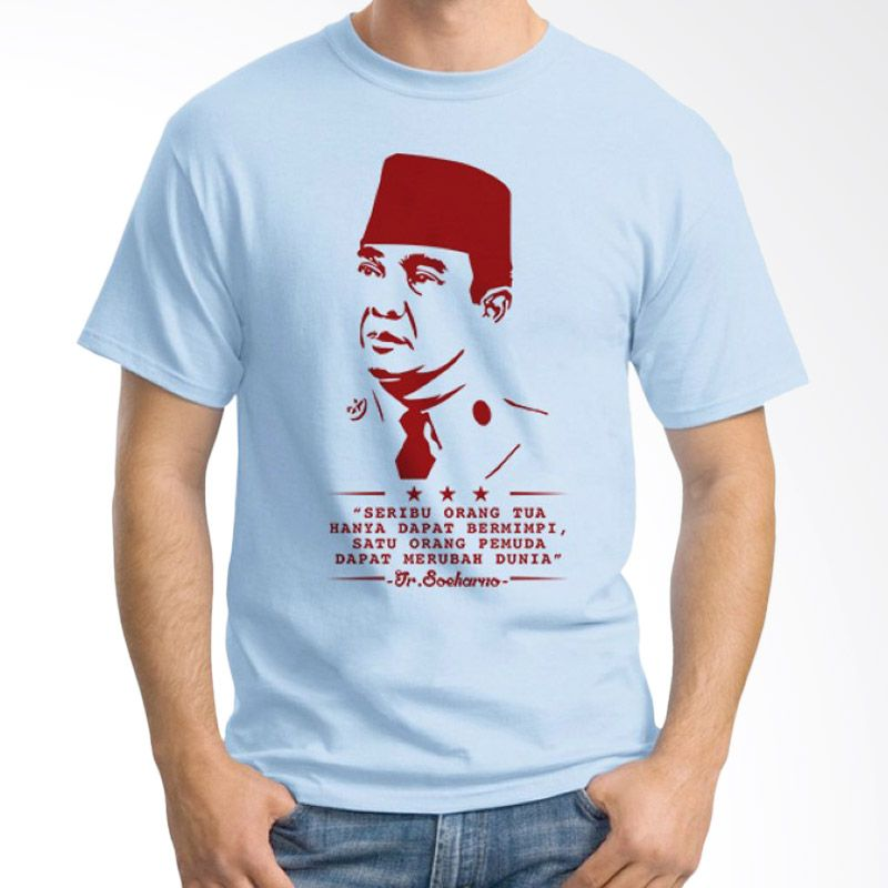 Ordinal One Indonesia 04 Biru Muda Kaos Pria