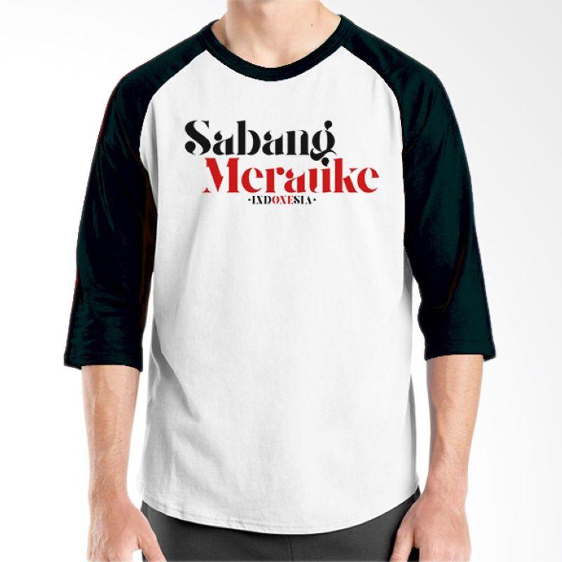 Ordinal One Indonesia 07 Raglan Putih Hitam T-Shirt Pria