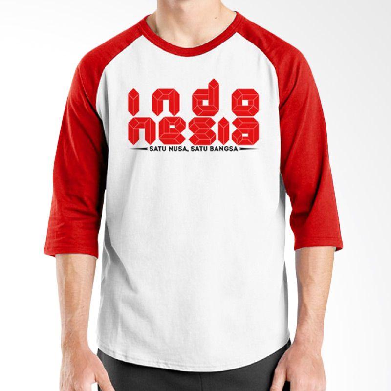 Ordinal One Indonesia 11 Raglan Putih Merah T-Shirt Pria