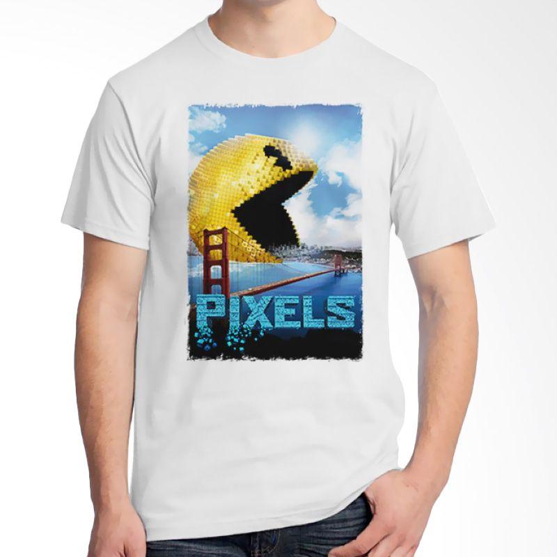 Ordinal Pixels Movie Edition 02 Putih Kaos Pria