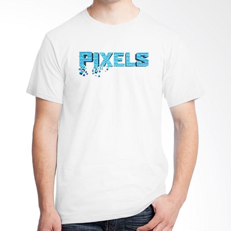 Ordinal Pixels Movie Edition 12 Putih Kaos Pria